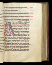 Decorated Initial, In A Copy Of Bede's History Of The English Church f.63r